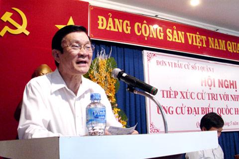 Ông Trương Tấn Sang đang hứa chuyền vĩ mô !