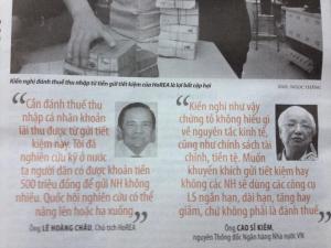 Ý kiến của ông Lê Hoàng Châu, chủ tịch HoREA và ông Cao Sỹ Kiêm, cựu Thống đống Ngân hàng Nhà nước