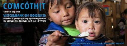 Chương trình CƠM CÓ THỊT cho trẻ em vùng cao do anh Trần Đăng Tuấn khởi xướng