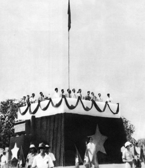 Khán đài nơi Cụ Hồ đọc Tuyên ngôn Độc lập (02/9/1945)